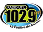 Escuchar Radio util 102.9 fm en directo
